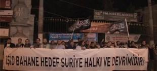 IŞİD operasyonuna karşı protesto!