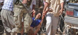 IŞİD'den kaçan halka sınırda müdahale!