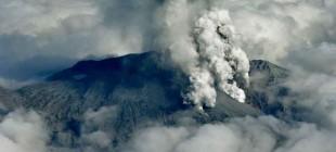 Japonya'da yanardağ patladı!