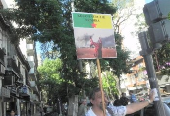 Buenos Aires'te Kobanê Eylemi!