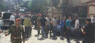 Humus'ta yapılan bombalı saldırı görüntüleri!