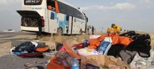 Sivas'ta yolcu otobüsü devrildi: 36 yaralı