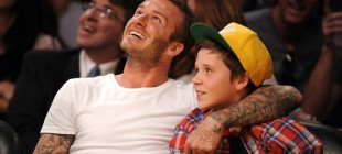 Beckham oğluyla birlikte kaza geçirdi!