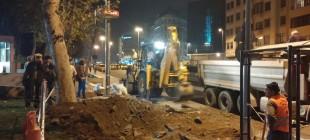 Gezi Parkı'nda yeniden iş makineleri!