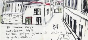 Orhan Pamuk'tan sürpriz çizim!