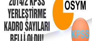 2014/2 KPSS yerleştirme kadro sayıları belli oldu!