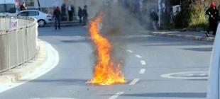 Okmeydanı'nda YÖK protestosuna gazlı müdahale!