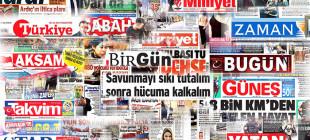 Gazete manşetleri 8 Ocak 2015