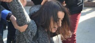 Davutoğlu'nu protesto eden 20 kişi gözaltında!