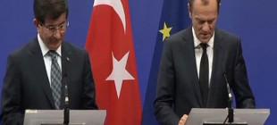Davutoğlu ve Donald Tusk'tan ortak basın toplantısı!