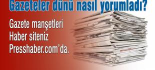 Gazete manşetleri 13 Ocak 2015