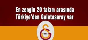 Dünyanın en zengin 20 takımı arasında Galatasaray da var