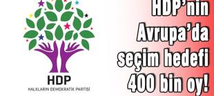 HDP'nin Avrupa'da seçim hedefi 400 bin oy!