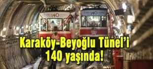 Karaköy-Beyoğlu Tüneli'nin 140. yılı kutlandı