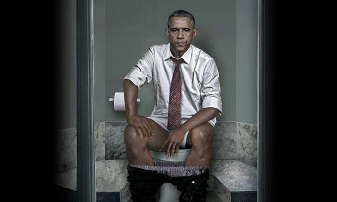 world leaders, barack obama, angela merkel, duty, toilet, artist show, daily basis, papha, usa, russian, putin, germany, united kingdom,