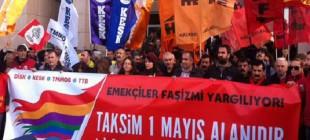 DİSK, KESK, TTB ve TMMOB'a 1 Mayıs yargılaması