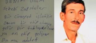 Adana'da seyyar satıcı 'Ölüm sebebim zabıtalar' notu bıraktı, kendini astı