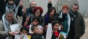 Yunanistanlı eğitim emekçilerinin Rojava yardımları engelleniyor