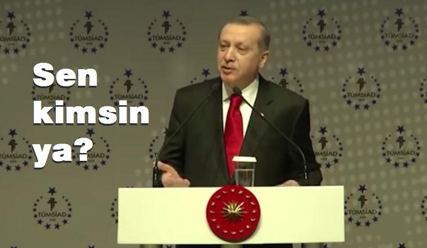 sen kimsin ya hdp erdoğan
