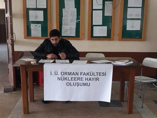 Üniversite öğrencilerinden Nükleer santrale karşı imza kampanyası