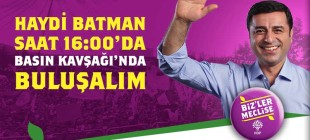 HDP Batman mitingi
