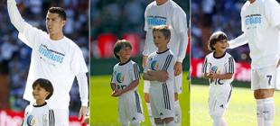 Ronaldo, maça Suriyeli çocuk ile çıktı