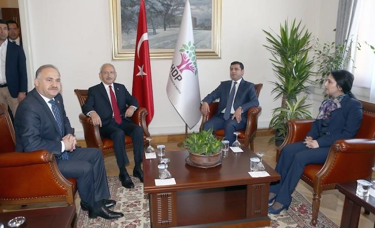 Demirtaş ve Yüksekdağ, Kılıçdaroğlu ile görüştü
