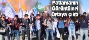 Ankara'daki patlama anı görüntüleri ortaya çıktı