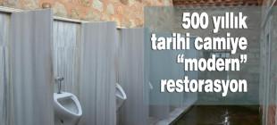 500 yıllık camiye 'modern' restorasyon!