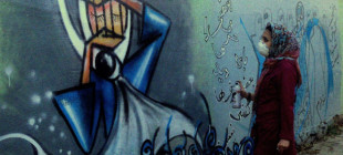 17 çalışmasıyla Afganistan'ın tek kadın sokak sanatçısı Shamsia Hassani