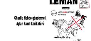 Leman'dan Charlie Hebdo göndermeli Aylan Kurdi karikatürü