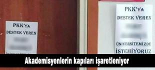 Gazi ve Kırıkkale'de akademisyenlerin kapıları işaretlendi