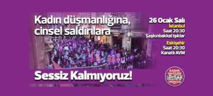 Kadınlardan İstanbul ve Eskişehir'de Sessiz Kalmıyoruz eylemi