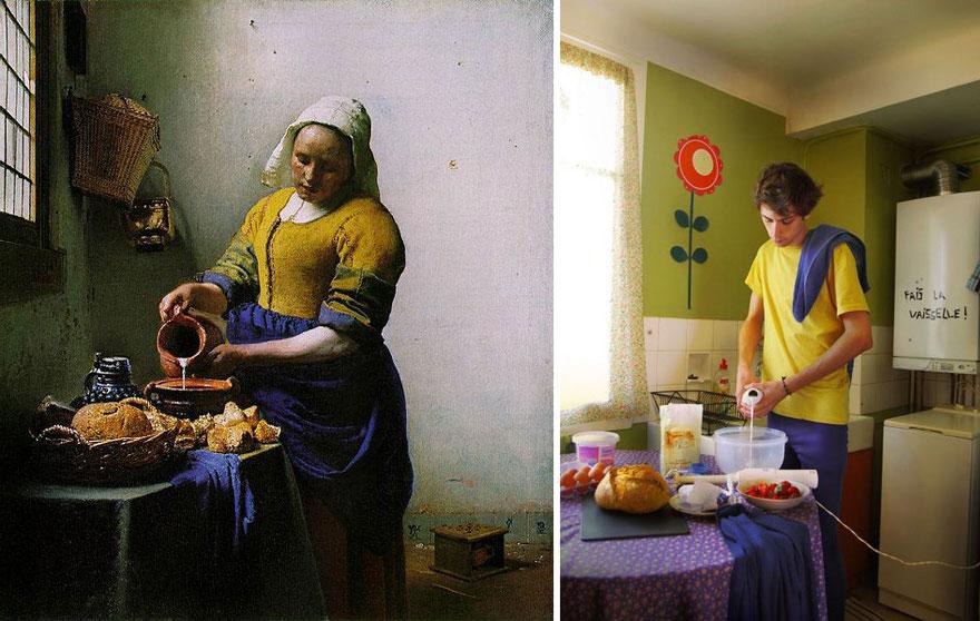 """""""La laitière"""" by Johannes Vermeer"""