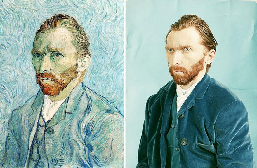 """""""Self Portrait 1889″ by Vincent van Gogh"""