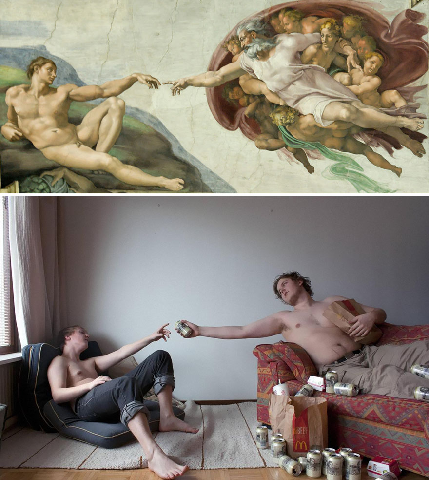 """The Creation of Adam"" by Michelangelo"