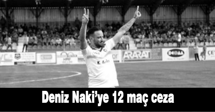 PFDK Amedspor oyuncusu Deniz Naki'ye ideolojik propaganda yaptığı gerekçesiyle 12 maç cezası verdi.