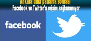 Ankara'daki patlamadan sonra Twitter ve Facebook ağırlaştı
