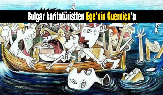 Bulgar karitatürist Jovcho Savov Ege'nin Guernica'sı
