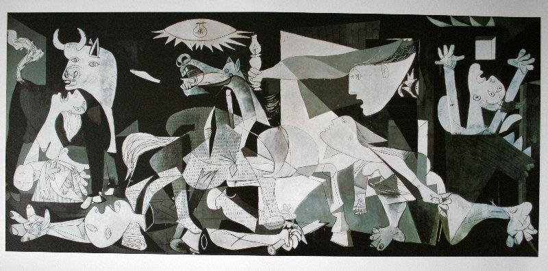 Pablo Picasso'nun çizdiği orijinal Guernica tablosu