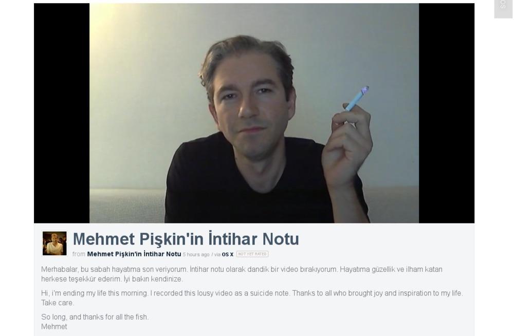 Mehmet Pişkin intihar