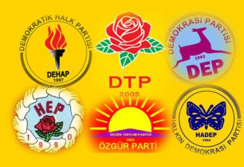 Türkiye siyasal hayatında kapatılan Kürt partileri