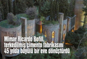 Ricardo Bofill, çimento fabrikasından büyülü bir ev yaptı
