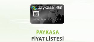 Paykasa Fiyat Listesi