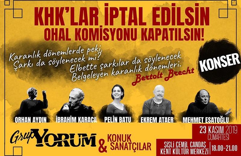 'KHK'lar İptal Edilsin' konserine Şişli Kaymakamlığı'ndan yasak