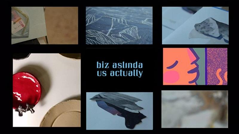 1 senaryo 12 sanatçı: 'Biz Aslında' sergisini ziyaret edemeyenler için video hazırlandı