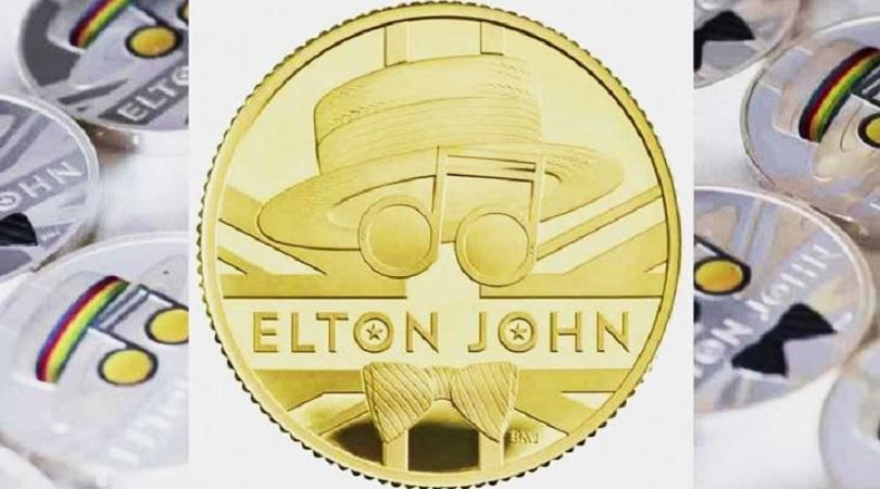 Elton John, İngiltere'de adına hatıra parası basılan ikinci sanatçı oldu