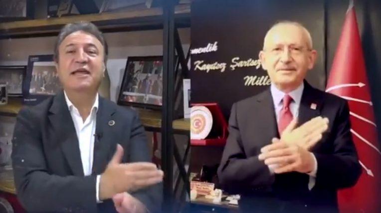 """Kılıçdaroğlu, sağlıkçılarla birlikte, işaret diliyle """"Memleketim"""" şarkısını seslendirdi"""