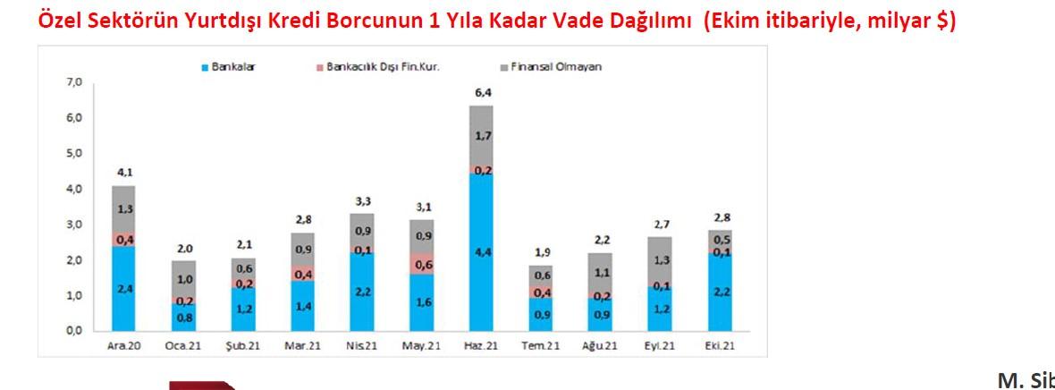 Özel sektörden FX borç ödemeye devam