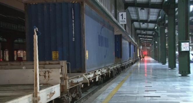 Türkiye'den Çin'e giden ikinci ihracat treni Ankara Garı'nda